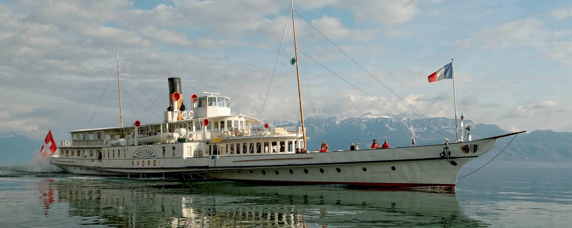 Bateau CGN, lac Léman, Suisse