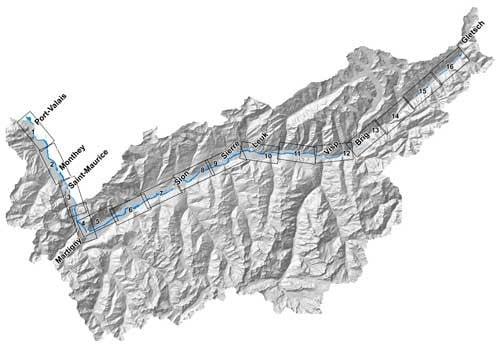 3e correction du Rhône en Valais Suisse