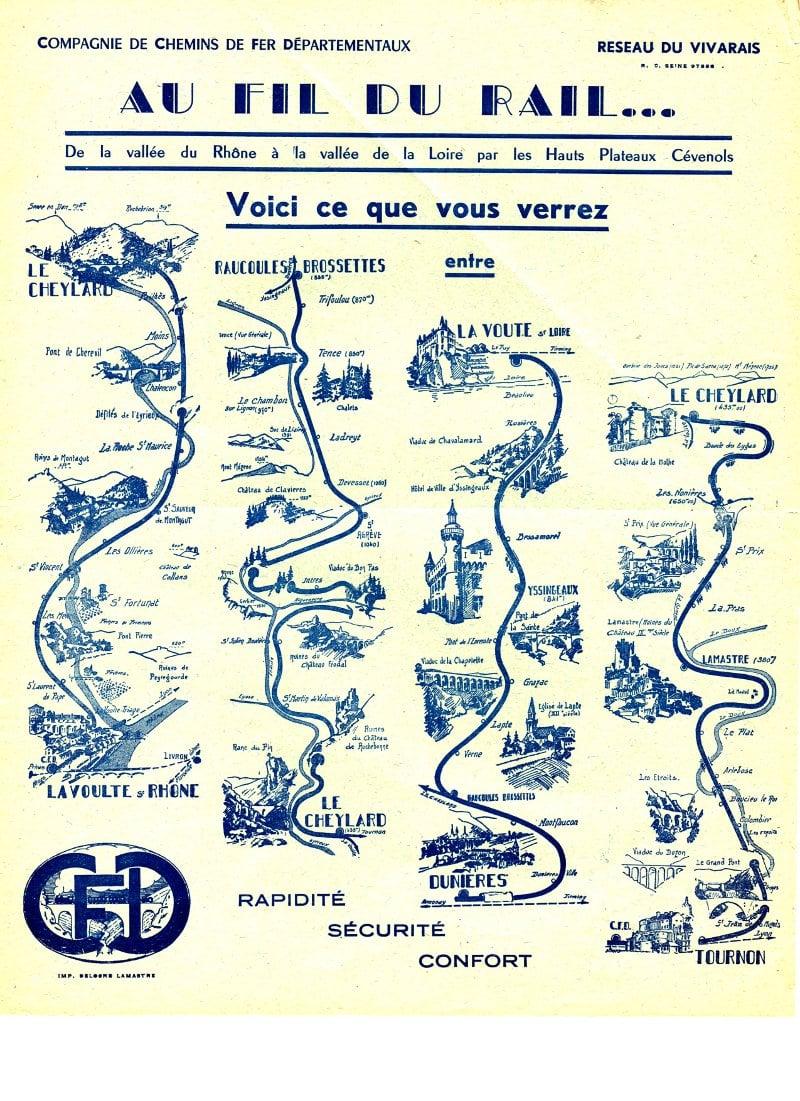 chemins de fer CFD Ardèche Vivarais