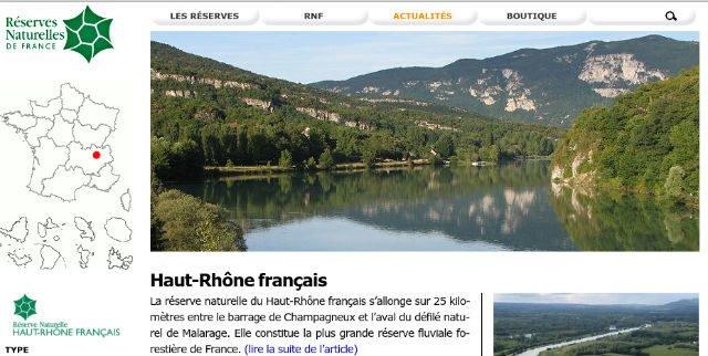 Réserve du Haut Rhone français