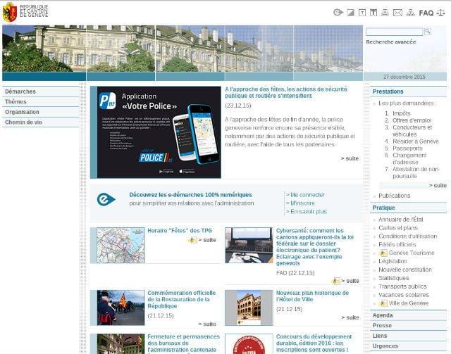 site officiel canton de geneve
