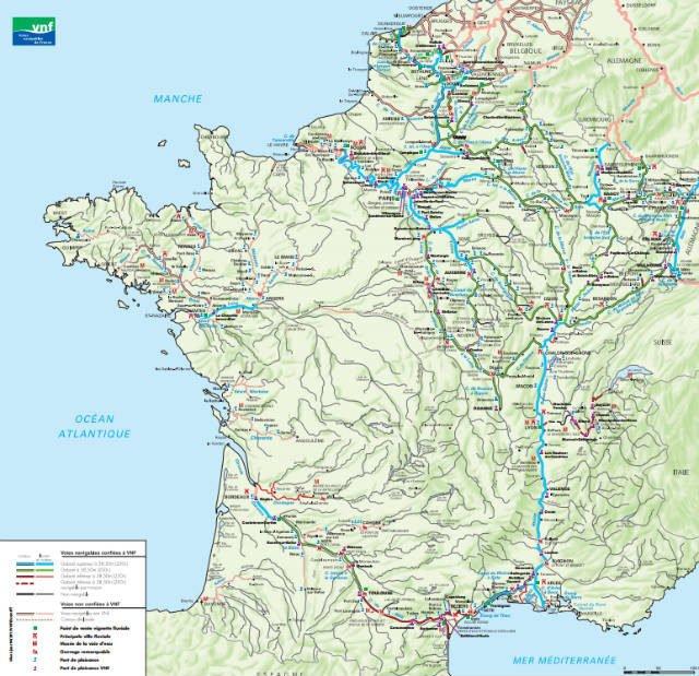 carte tourisme fluvial de france