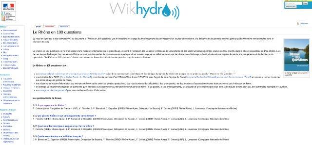 Wikihydro le Rhone en 100 questions