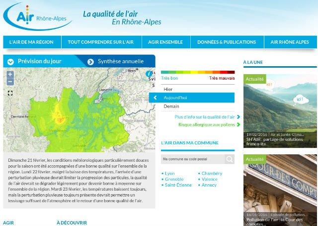 Qualité de l'air en vallée du Rhône