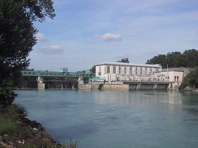 Barrage de Seyssel, fleuve Rhone