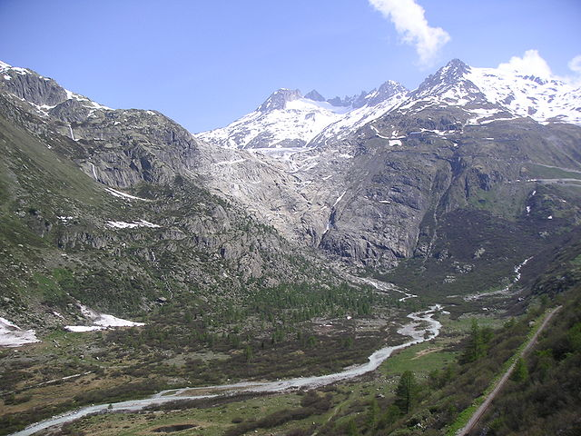 Glacier du Rhone en 2015