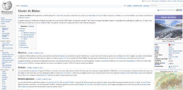 Glacier du Rhone via wikipedia