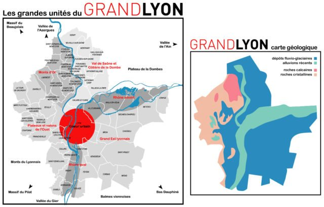 Grand lyon unités et géologie