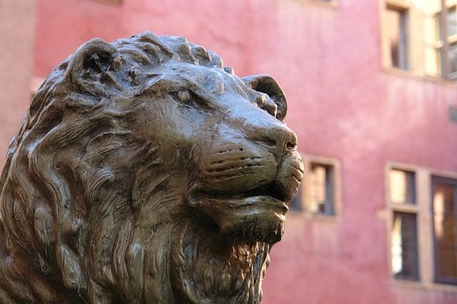 Lyon fontaine lion