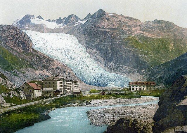 glacier du Rhone 1900
