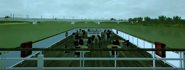 Pilotage simulateur fluvial