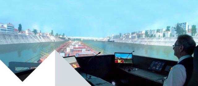 simulateur de navigation fluviale