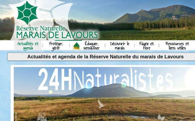 Marais de Lavours : site officiel