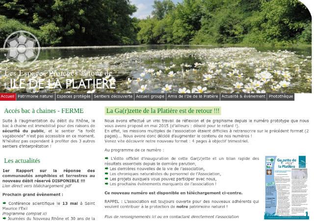 Site web de l'île de la Platière