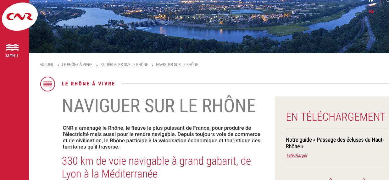 Naviguer sur le Rhône CNR