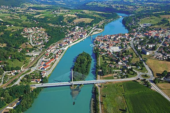 Pont sur le fleuve Rhône [Photo Plan Rhône officiel]