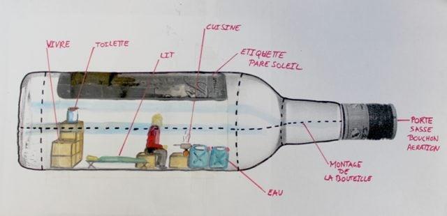 Plan de la bouteille, Abraham Poincheval
