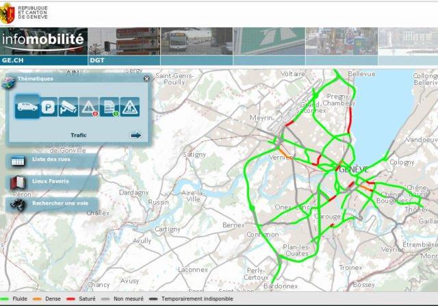 infomobilité, circulation canton de Genève : circulation en vallée du Rhône