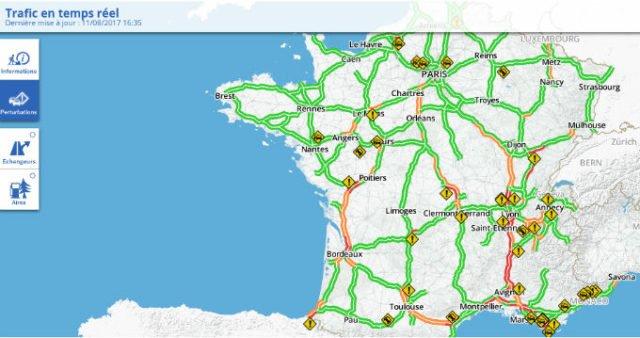 trafic autoroutes : circulation en vallée du Rhône