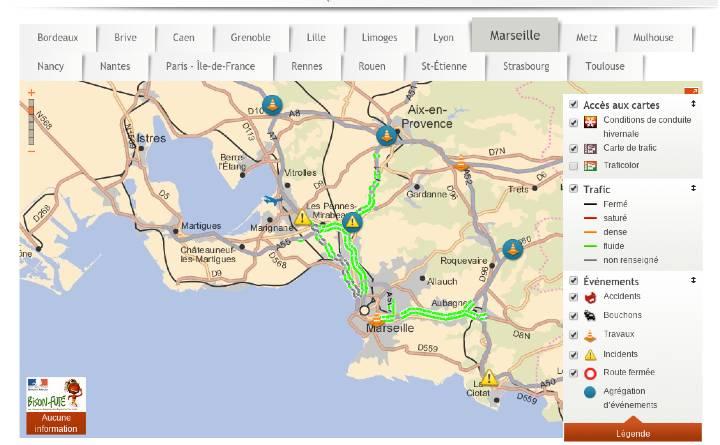 Circulation en vallée du Rhône : Marseille et Aix-en-Provence