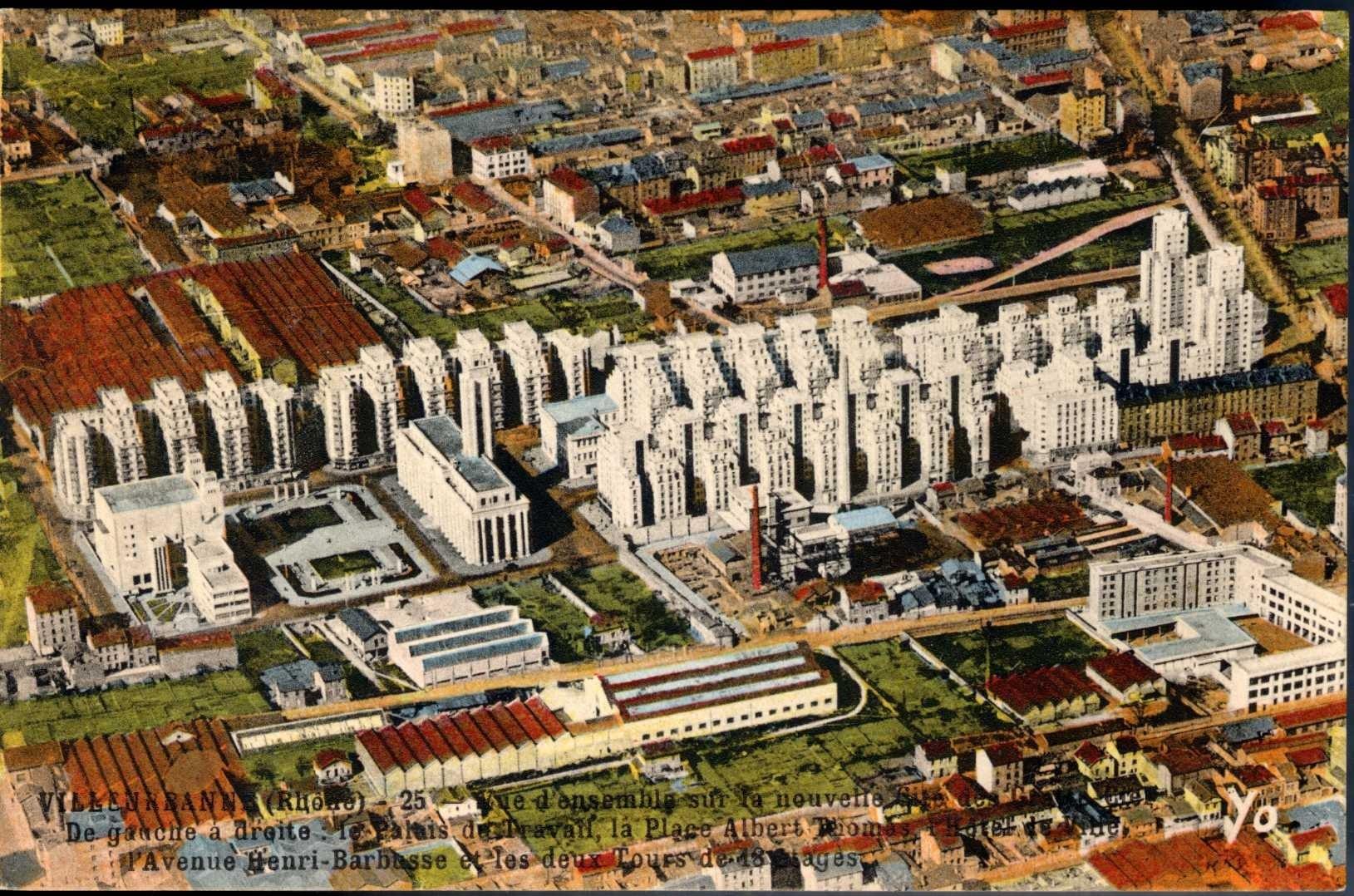 Quartier Gratte-Ciel Villeurbanne, 1950