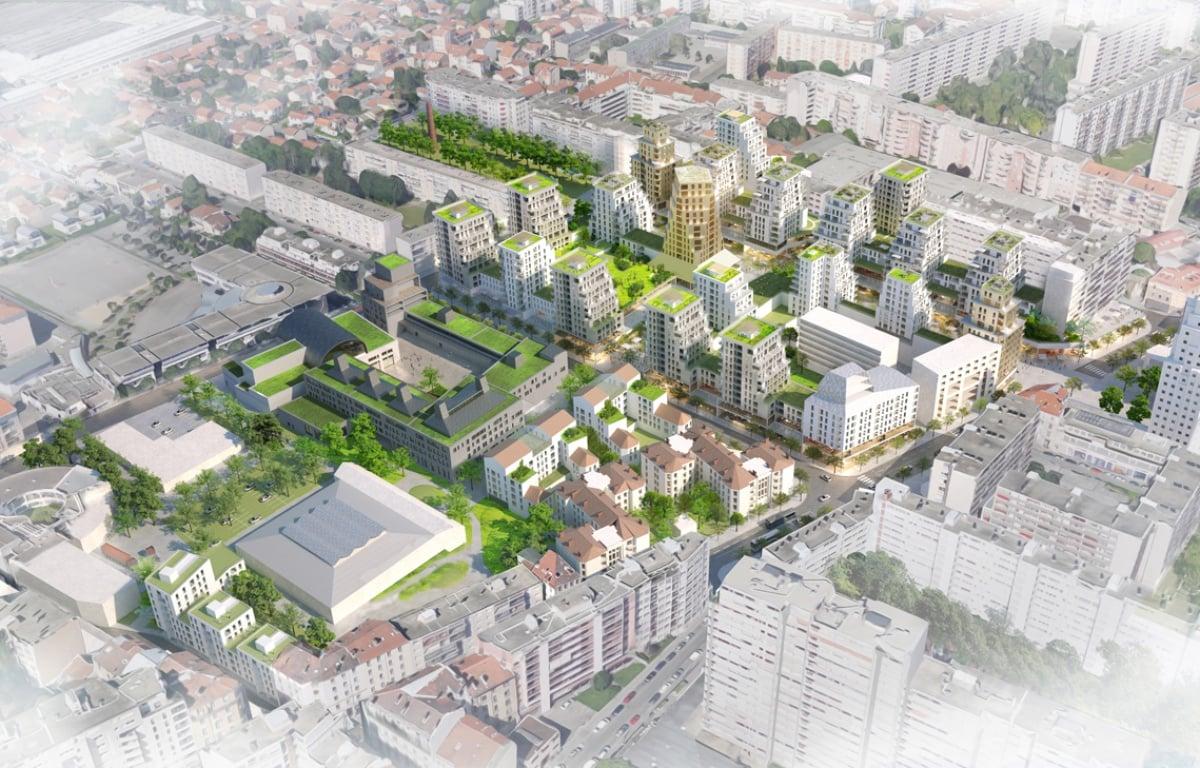 Projet quartier gratte-ciel, Villeurbanne