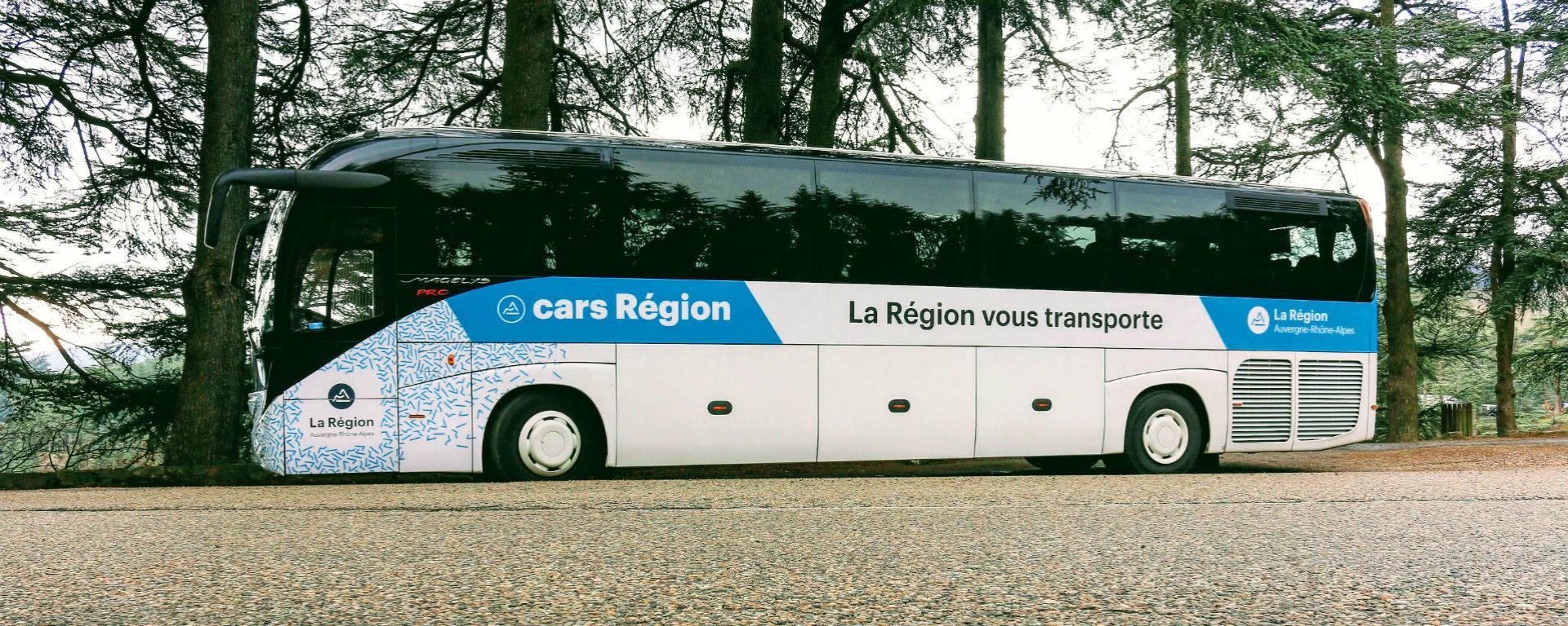 Bus, cars en Région Auvergne-Rhône-Alpes
