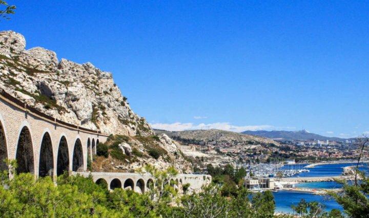 Train de la côté bleue, Marseille