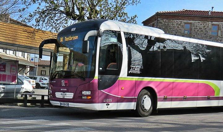 Bus et cars TIL dans la Loire