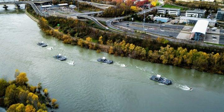 Ferme fluviale sur le fleuve Rhône