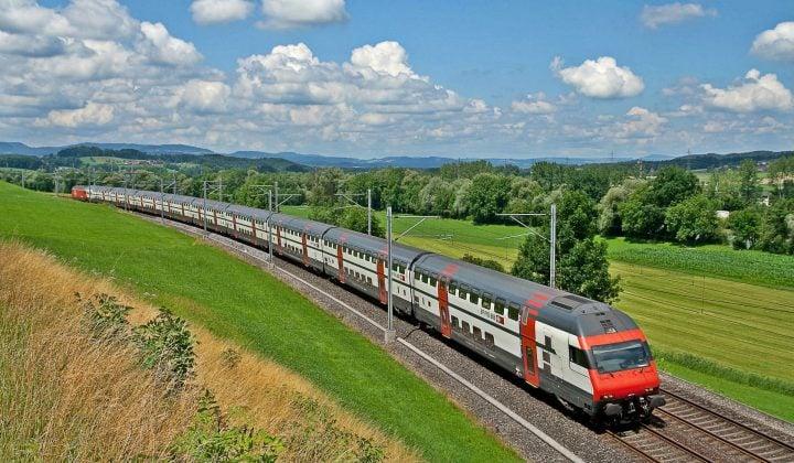 Réseau ferroviaire et trains en Suisse