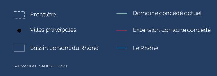 Légende concession du fleuve Rhône